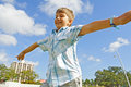 Pretending To Fly Royalty Free Stock Image - 4088506