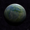 Hemisphere Satellite View Of A Planet Earth Royalty Free Stock Photography - 40800817