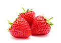 Three Perfect Red Ripe Strawberry Isolated Royalty Free Stock Photo - 40801835
