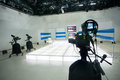 Television Studio With Camera And Lights Royalty Free Stock Image - 40802776