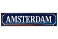 Vintage Enamel Street Sign With The Text Amsterdam Stock Photo - 40806570