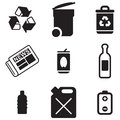 Recycling Icons Royalty Free Stock Photos - 40806778