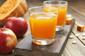 Juice Of Apples And Pumpkins Royalty Free Stock Photography - 40813327