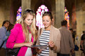 Two Pretty, Young Women Sightseeing In Prague Stock Photography - 40816072