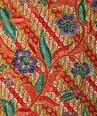 Fabric With Floral Batik Pattern Royalty Free Stock Image - 40819336