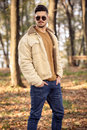 Young Man Wearing Autumn Fashionable Clothing Stock Image - 40823821
