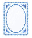 Mirror Frame Faience  Vector Without Gradients Stock Photography - 40824482