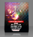 Christmas Party Flyer Stock Photo - 40825220