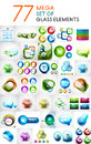 Mega Set Of Glass Abstract Shapes Design Elements Stock Image - 40831001