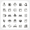 Book Icons Set Stock Photography - 40831262
