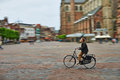 Man Riding Bicycle In City Square Royalty Free Stock Images - 40839969