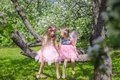 Little Adorable Girls With Butterfly Wings On Royalty Free Stock Photo - 40844345