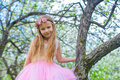 Portrait Of Little Cute Girl In Blossoming Apple Royalty Free Stock Images - 40844459