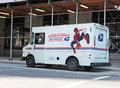 Mail  Delivery Truck With Spiderman Stock Photo - 40845920