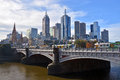 Melbourne City From South Bank. Royalty Free Stock Photography - 40849357