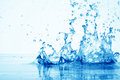 Drop Of Water In Puddle In Blue Stock Image - 40854631