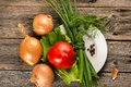 Onion, Chive And Tomato Stock Photography - 40859292