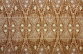 Fabric With Floral Batik Pattern Royalty Free Stock Photos - 40863768