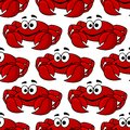 Seamless Pattern Of A Cute Happy Red Crab Royalty Free Stock Image - 40877006