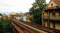 Chicago Train Tracks Houses Royalty Free Stock Images - 40879589