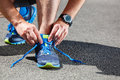 Runner Trying Running Shoes Getting Stock Photo - 40882070