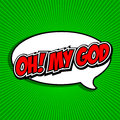Oh! My God Comic Speech Bubble, Cartoon. Royalty Free Stock Photos - 40884678
