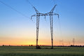 Electric Power Lines And Pylon Stock Image - 40887321