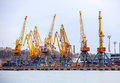 Elevating Cranes In Port Stock Photography - 40889082