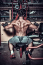 Body Builder Doing Heavy Weight Exercise For Back Stock Photo - 40889910