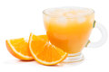 Glass Of Orange Juice With Ice Stock Photography - 40890262