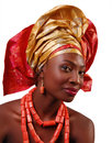 AFRICAN WOMAN WITH HEADWRAP Royalty Free Stock Photos - 40894958