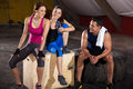 Taking A Break At The Gym Stock Photos - 40902573