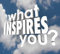 What Inspires You Question Spark Imagination Creativity Royalty Free Stock Photos - 40907278