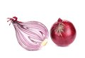 Red Onion And Half. Stock Photography - 40918062