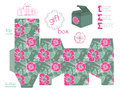 Printable Gift Box With Poppies Pattern Stock Photography - 40921752