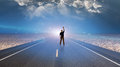 Man And Roadway Stock Image - 40933681