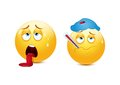 Sick And Exhausted Emoticon Royalty Free Stock Photo - 40948415