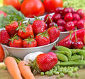 Organic Fruits And Vegetables Royalty Free Stock Images - 40952459