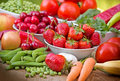 Organic Fruits And Vegetables Stock Photo - 40952460