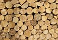 Wood Chopped Firewood Stacked On The Stack Stock Image - 40952831
