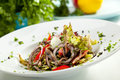 Salad With Anchovy Royalty Free Stock Photos - 40954448