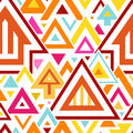 Abstract Geometric Seamless Pattern With Colorful Triangles And Lines Royalty Free Stock Images - 40958429