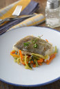 Baked Cod With Vegetables Stock Photos - 40959913