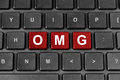 OMG Or Oh My God Word On Keyboard Royalty Free Stock Photos - 40962658