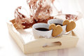 Coffee With Cookie Royalty Free Stock Photo - 40963635