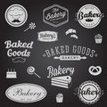 Set Of Vintage Bakery Badges And Labels Royalty Free Stock Photos - 40963938