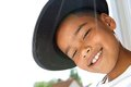 Cute Little Boy Smiling With Black Hat Stock Image - 40965331