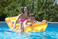 Two Teenagers Swimming In The Pool Stock Photography - 40967752