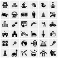 Toys Vector Icons Set On Gray Stock Photos - 40973133
