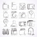 Home Appliances And Electronics Icons Royalty Free Stock Photos - 40977268